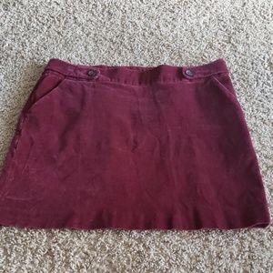 Banana Republic Corduroy Skirt Size 12